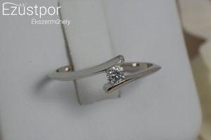 fehérarany gyémánt köves gyűrű